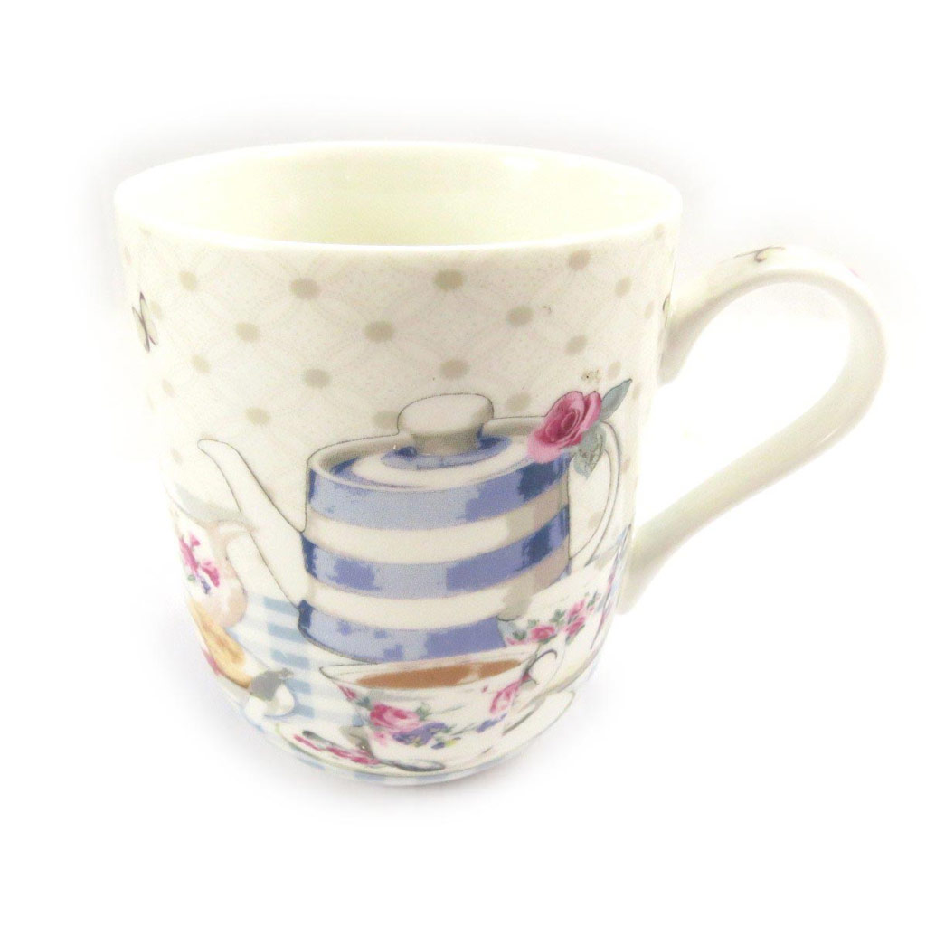 Mug porcelaine \'Instant Romantique\' pastel - 80x80 mm - [J7781]