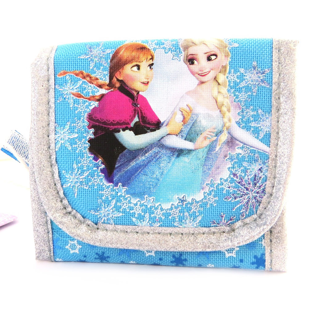 Portefeuille \' Frozen - Reine des Neiges\' bleu argenté - 105x95 mm - [N0467]