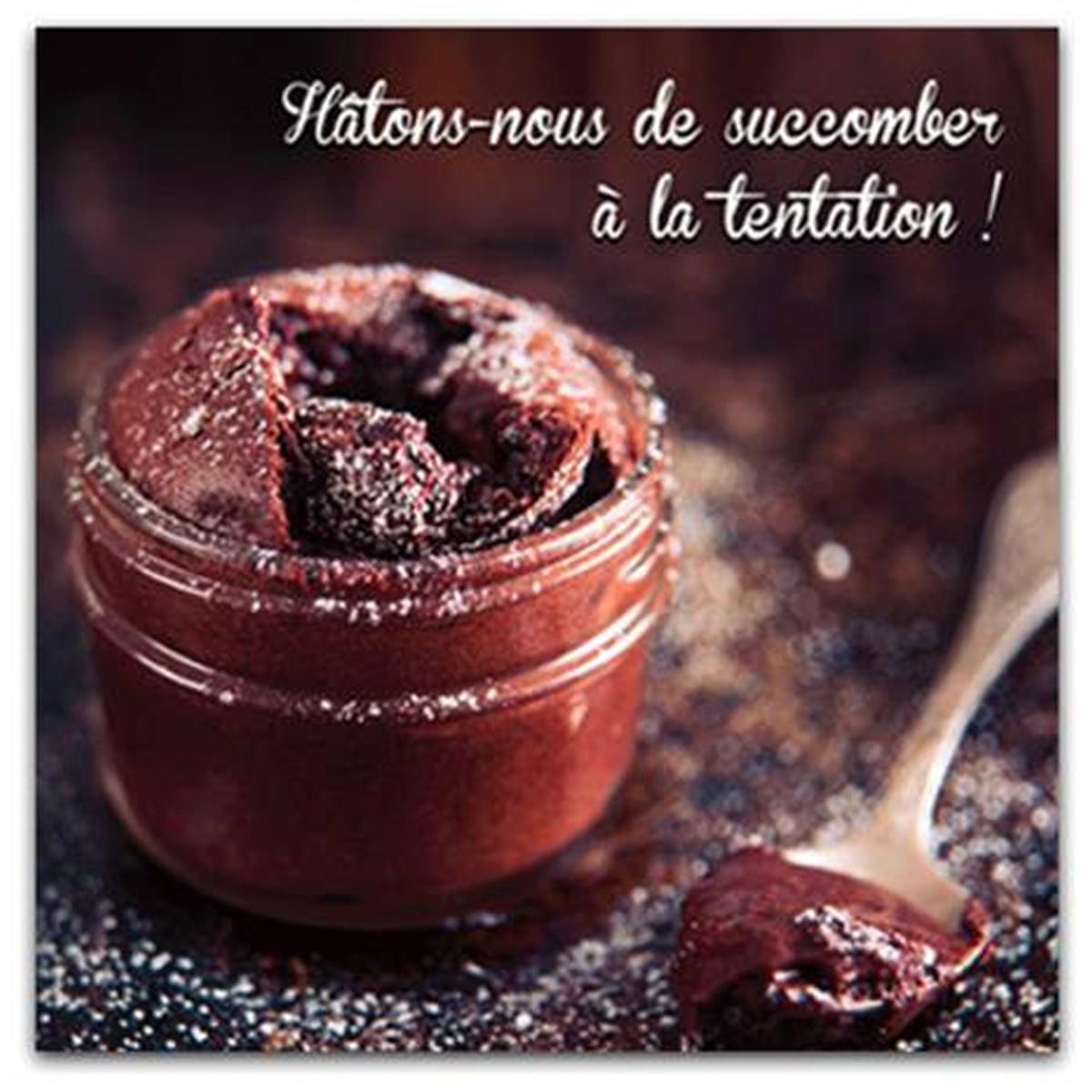 Toile \'Cuisine\' (Hâtons nous de succomber à la tentation !) - 40x40 cm - [P5238]