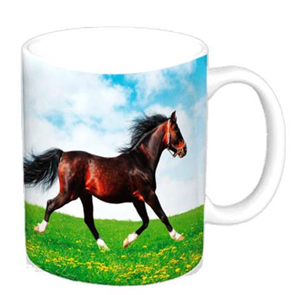 Mug céramique \'Passion Chevaux\' - 95x8 cm - [A2025]