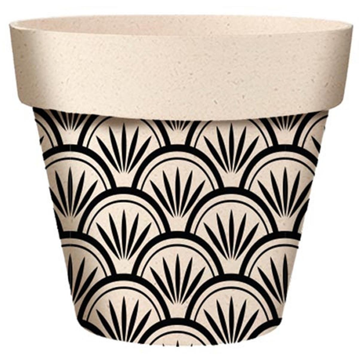 Cache-pot bambou \'Boho\' beige noir - 255x24 cm - [A2036]