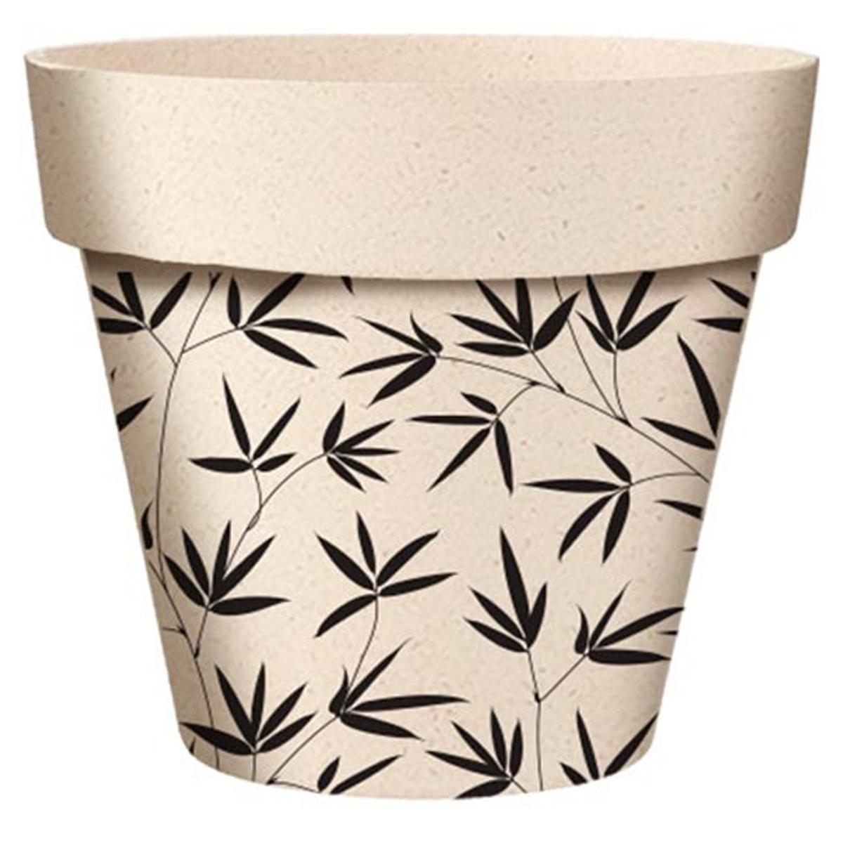 Cache-pot bambou \'Bambou\' noir beige - 255x24 cm - [A2046]
