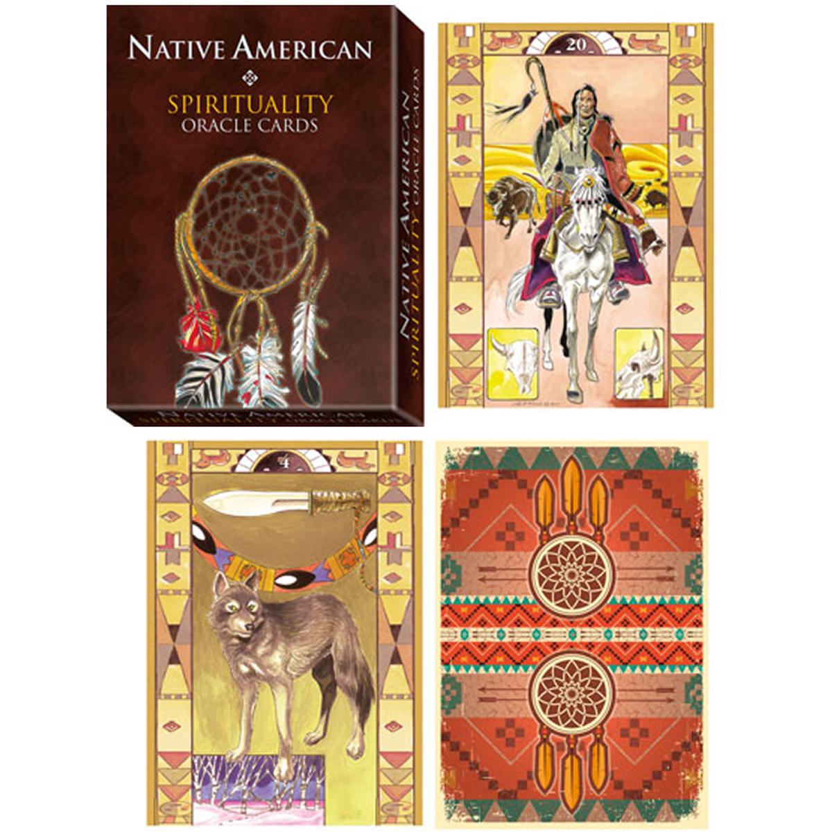 Jeu de cartes \'Native American\' multicolore - 125x88 cm - [A2126]