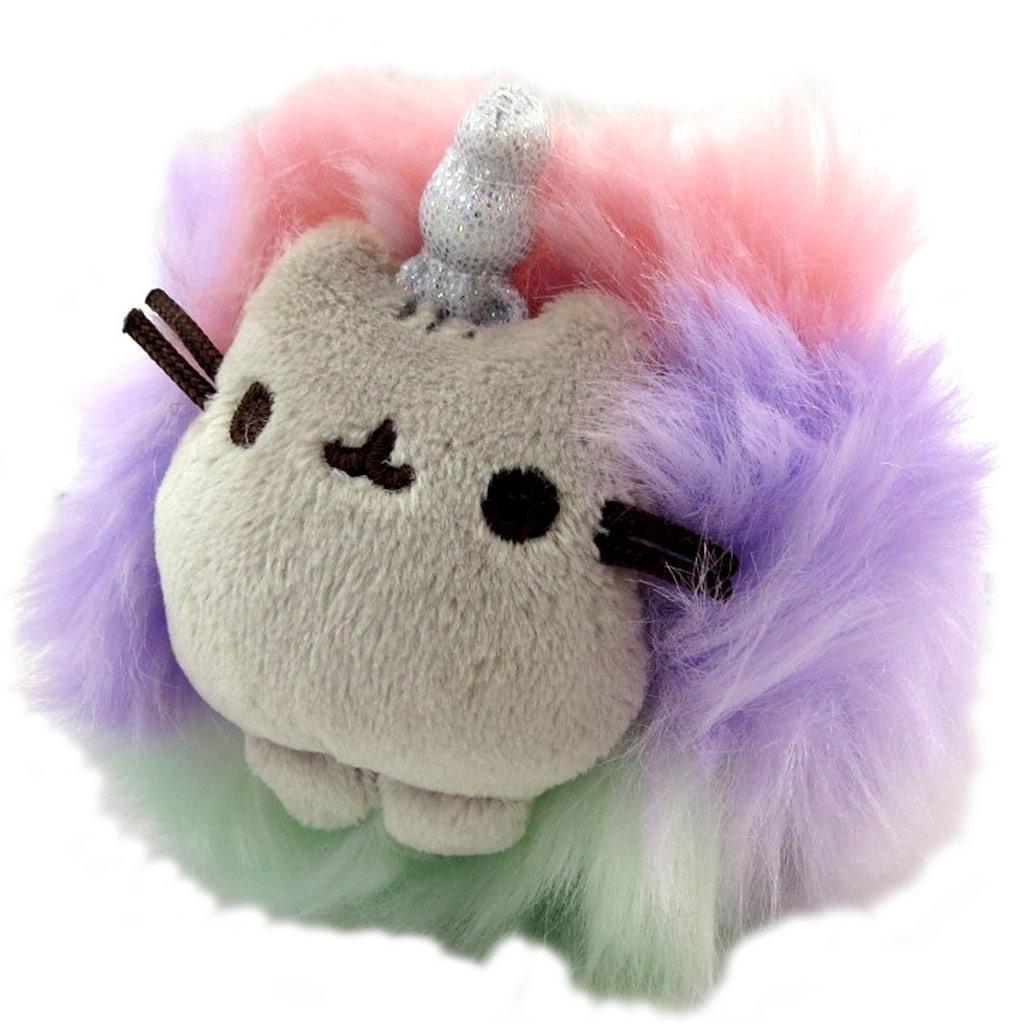 Peluche mousqueton \'Pusheen\' (unicorn) gris multicolore - 10x10x5 cm - [N7904]