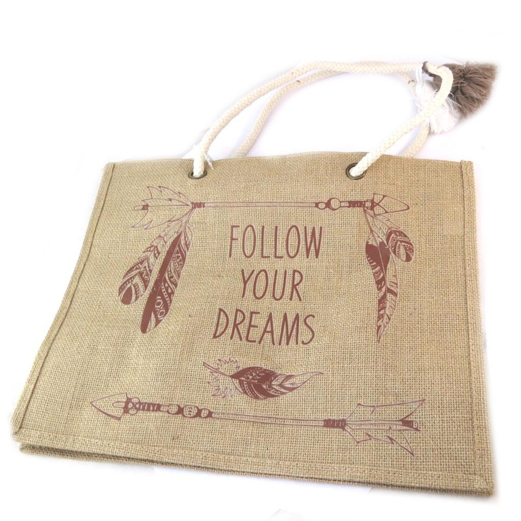 Sac shopping \'Boho\' (Follow your Dreams) - 425x33x185 cm - [P0386]