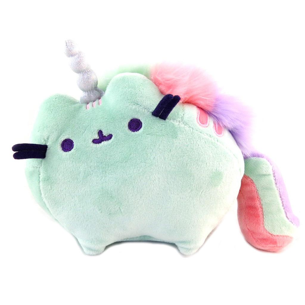 Peluche sonore \'Pusheen\' (unicorn) vert - 20x15x8 cm - [P9521]
