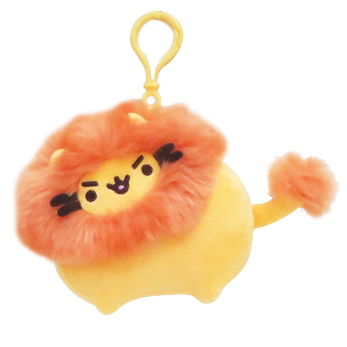 Peluche mousqueton \'Pusheen\' (lion) orange - 9 cm - [Q1862]