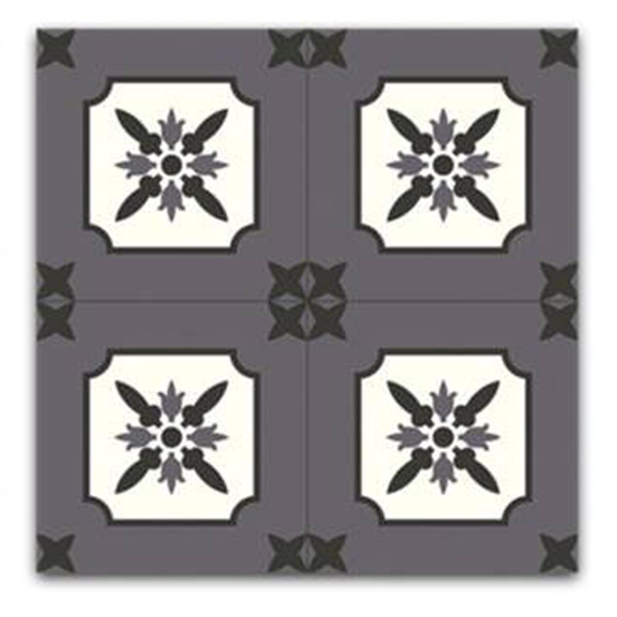Dessous de plat \'Boho\' gris blanc (carreaux) - 18x18 cm - [Q5867]
