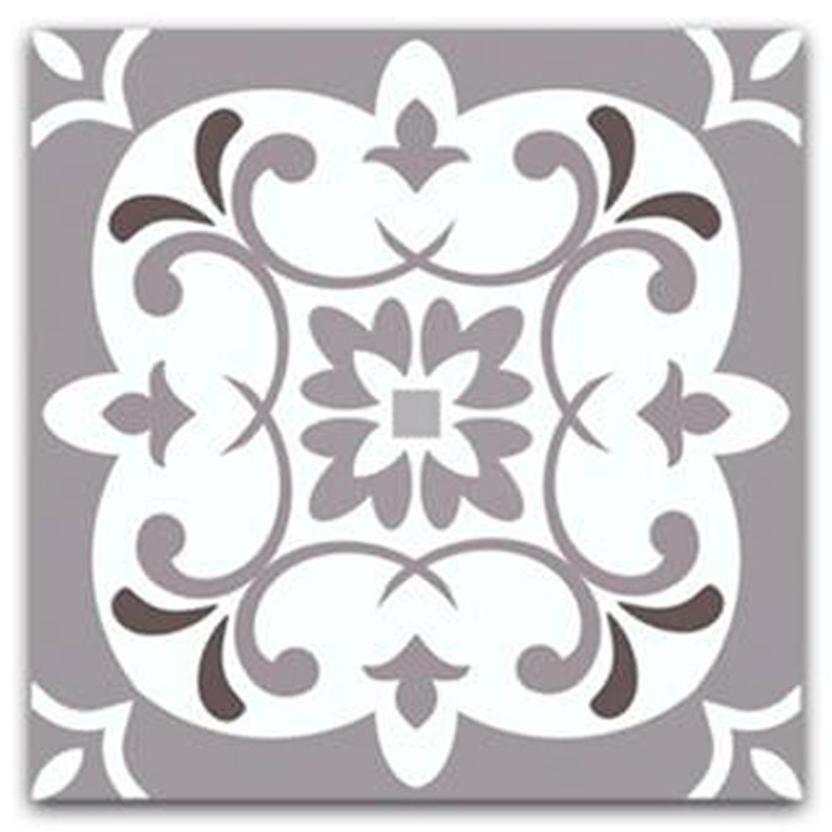 Dessous de plat \'Boho\' gris blanc (carreaux) - 18x18 cm - [Q5868]