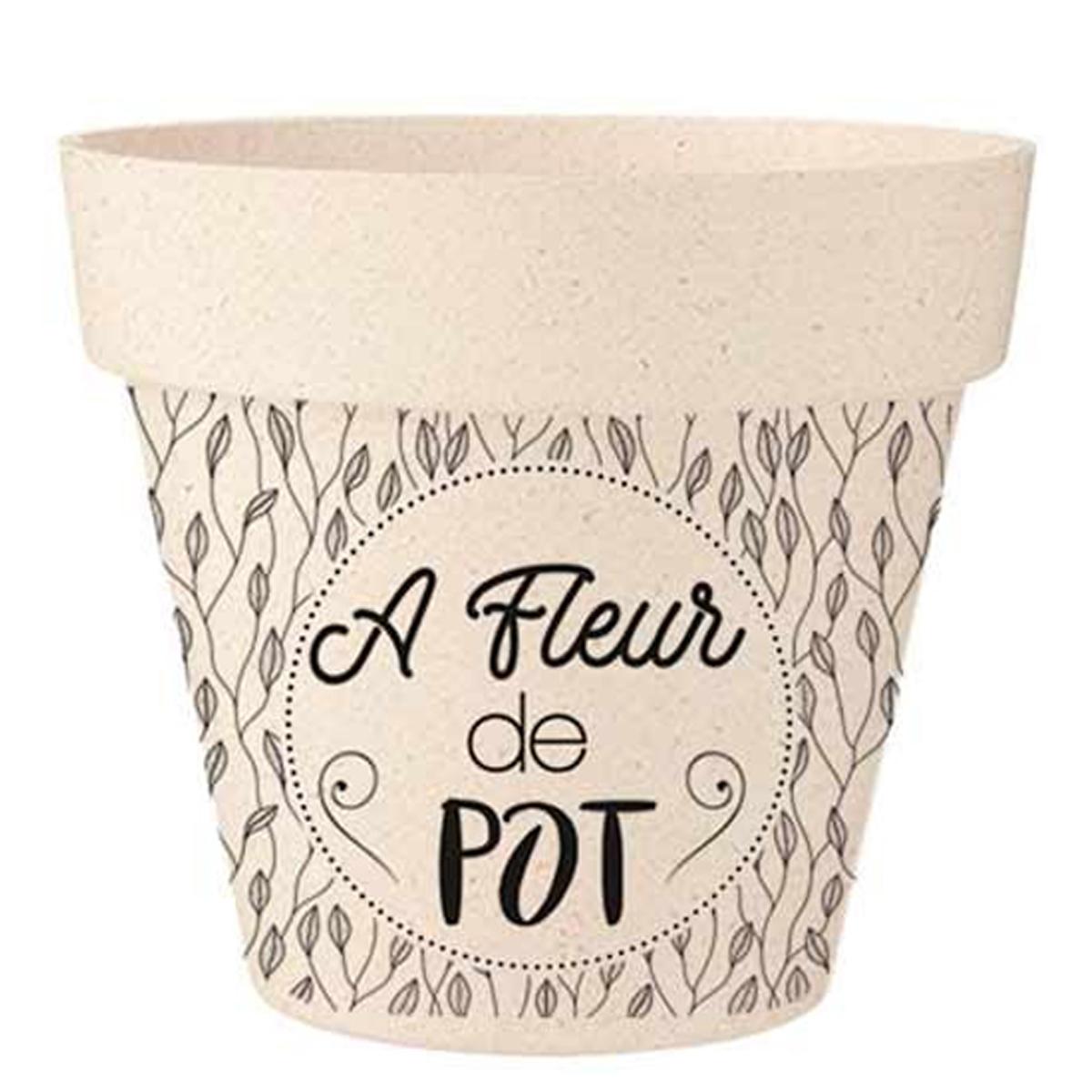 Cache-pot bambou \'A fleur de Pot\' beige noir - 255x24 cm - [R2229]