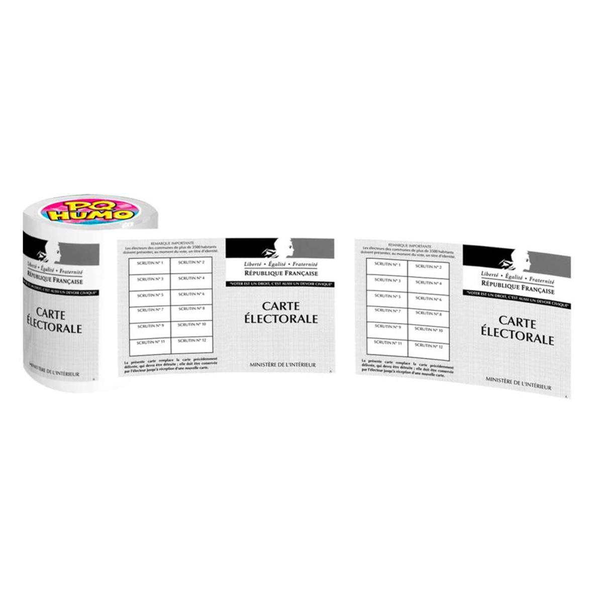 Rouleau WC \'Carte Electorale\'  - [P8761]