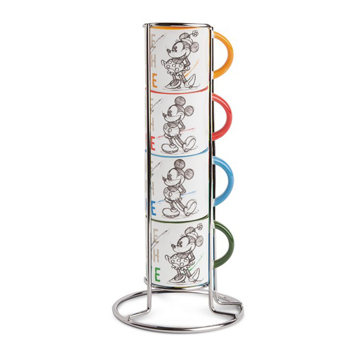 Tour de 4 mini mugs \'Mickey & Minnie\' - mug 6x6 cm - [A2005]