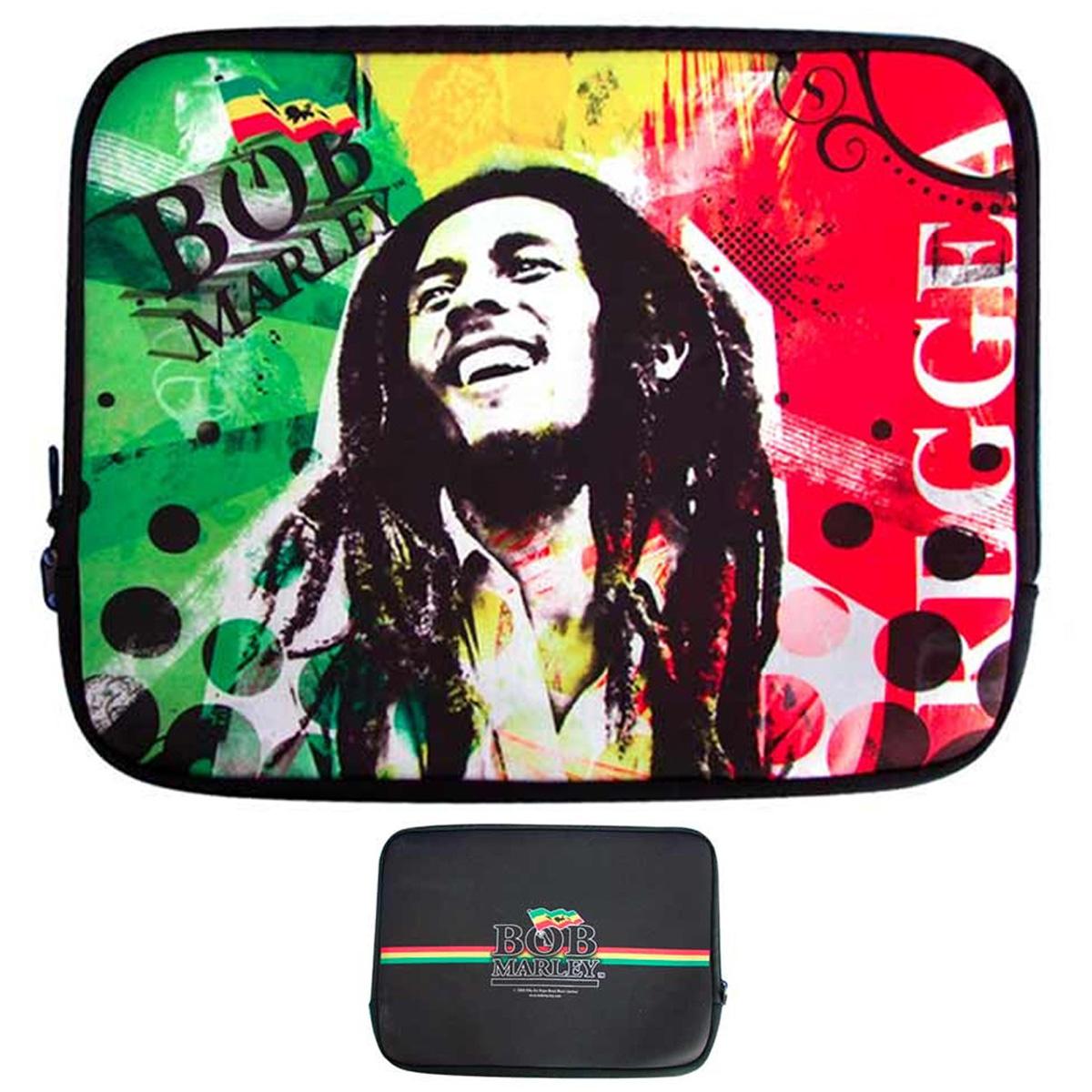 Housse ordinateur portable \'Bob Marley\' néoprène (15\') - 38x27 cm - [A2226]