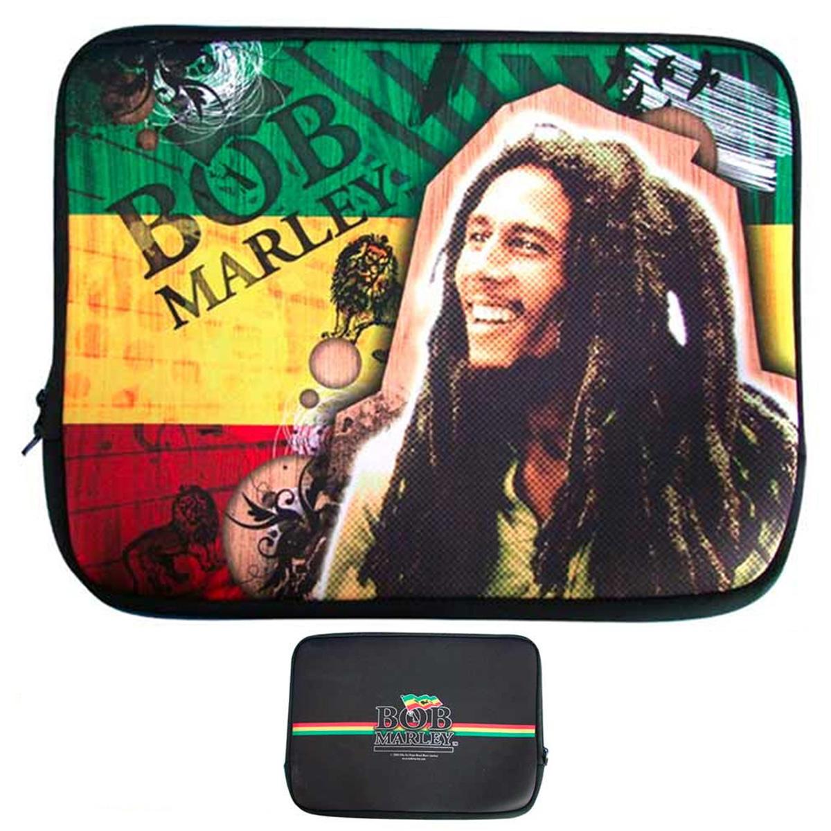 Housse ordinateur portable \'Bob Marley\' néoprène (15\') - 38x27 cm - [A2228]