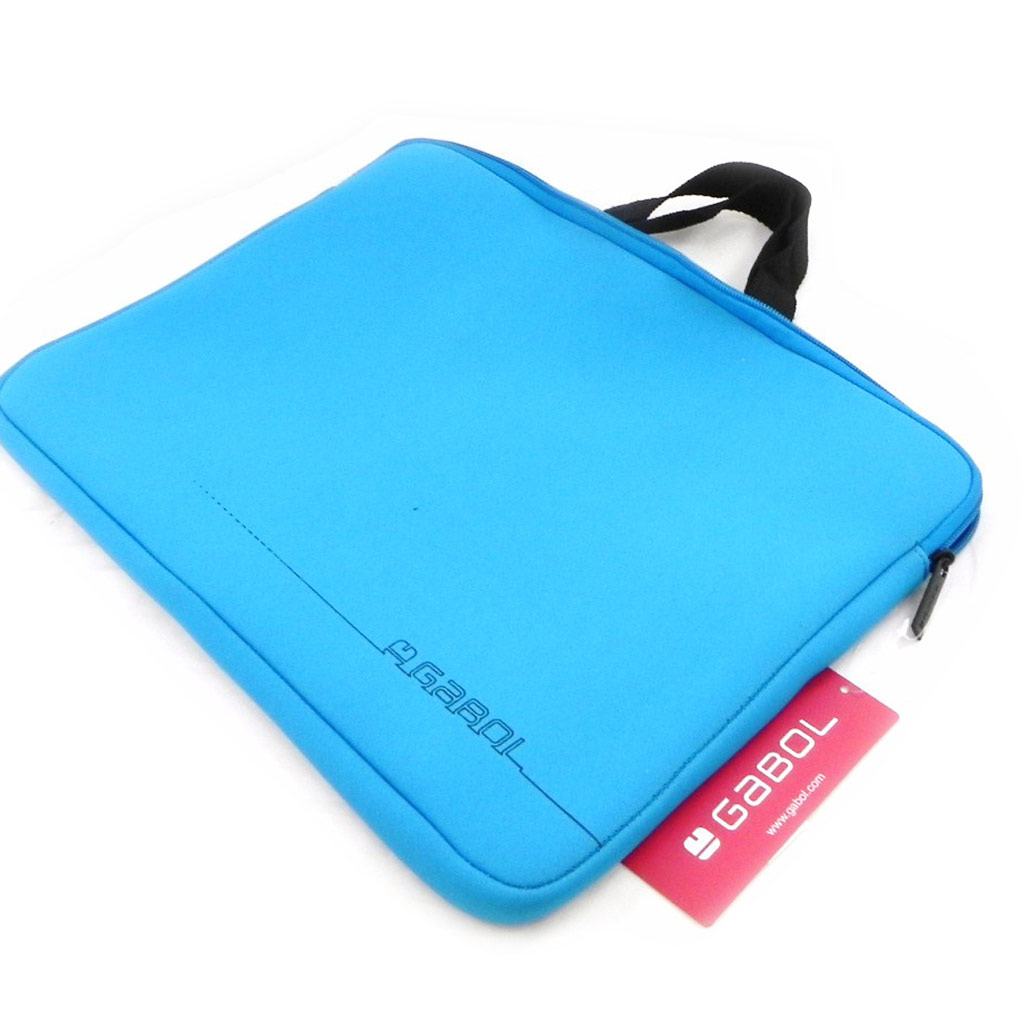 Housse de portable \'Simplicité\' bleu azur (spécial ordinateur) - 36x26 cm - [I7903]