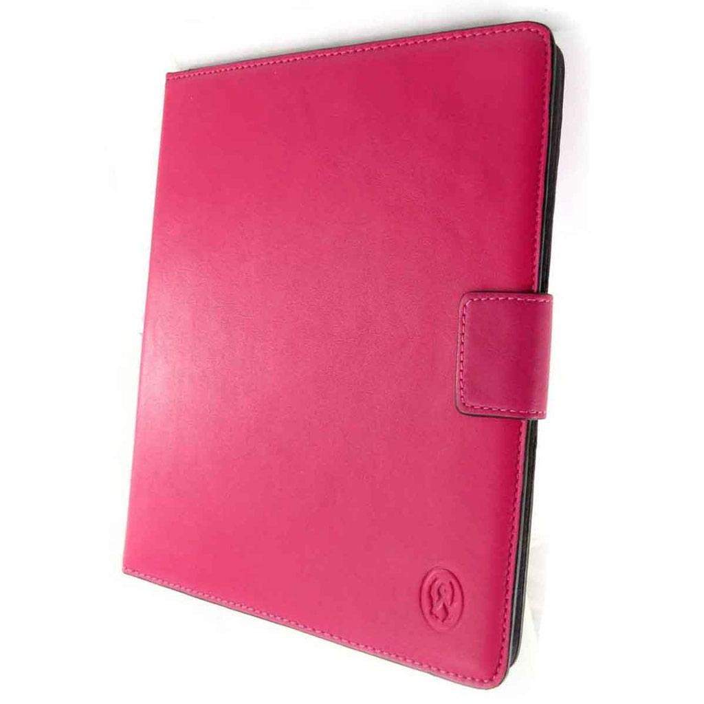 Etui tablette cuir \'Lafayette\' rose fuschia - 24x19 cm - [J6564]
