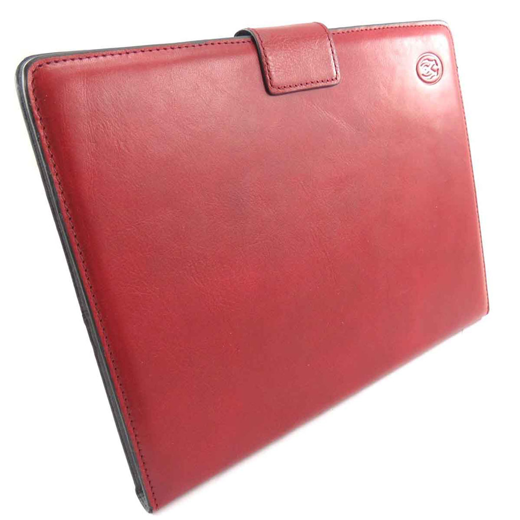 Etui tablette cuir \'Lafayette\' rouge - 24x19 cm - [J6568]