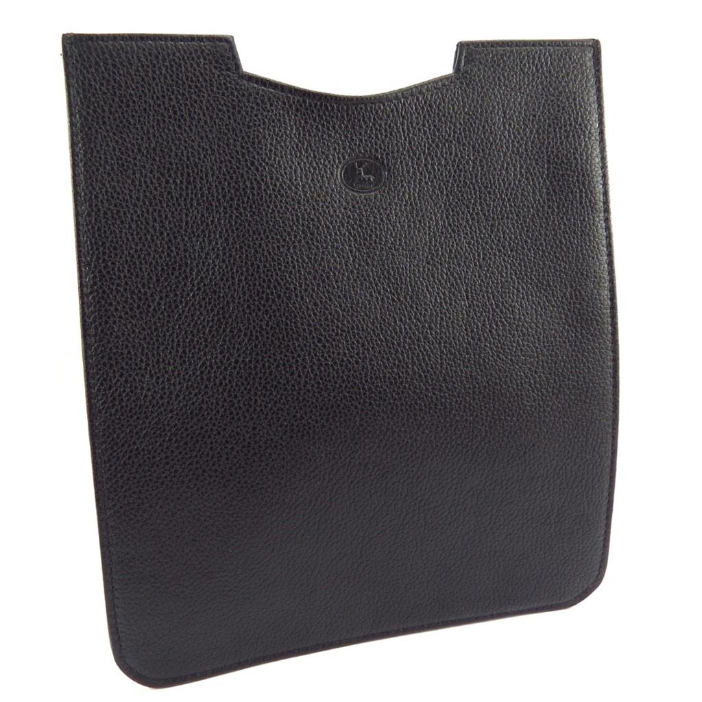 Etui tablette cuir \'Frandi\' noir grainé - 26x22 cm - [K1325]