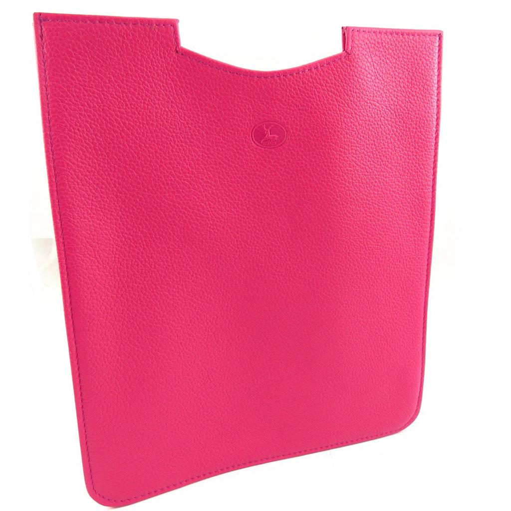 Etui tablette cuir \'Frandi\' rose bonbon grainé - 26x22 cm - [K1326]