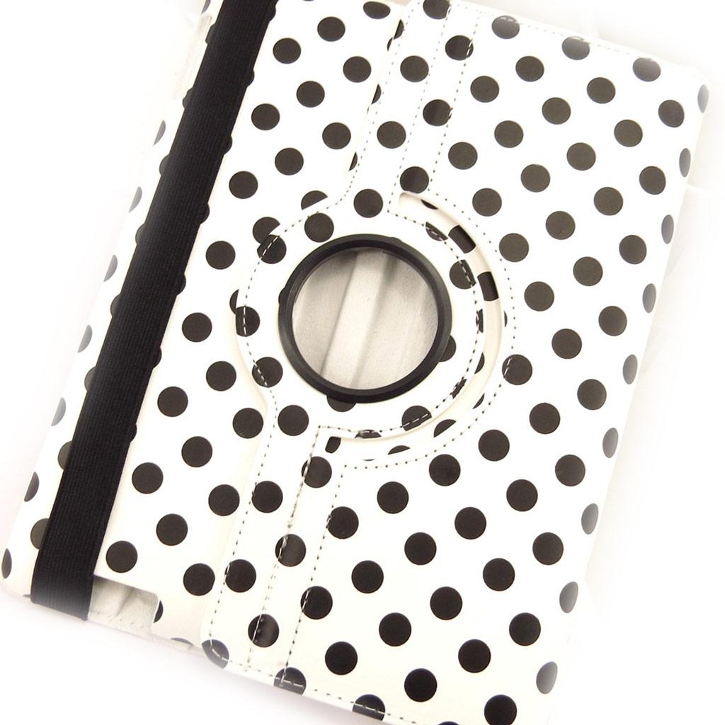 Coque Ipad \'Petits Pois\' blanc noir (97\') - [K8182]