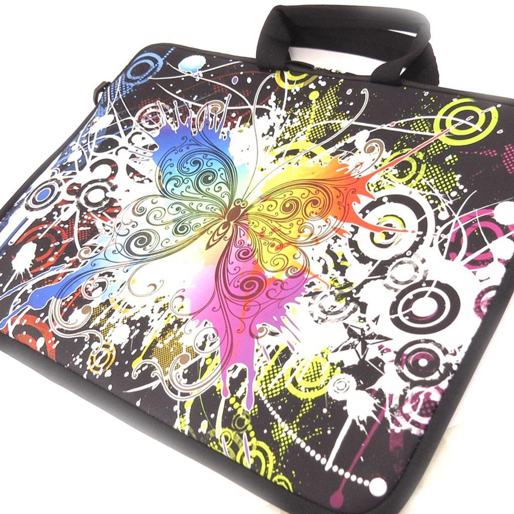Sacoche ordinateur portable \'Papillon\' néoprène (15\') - [K8194]