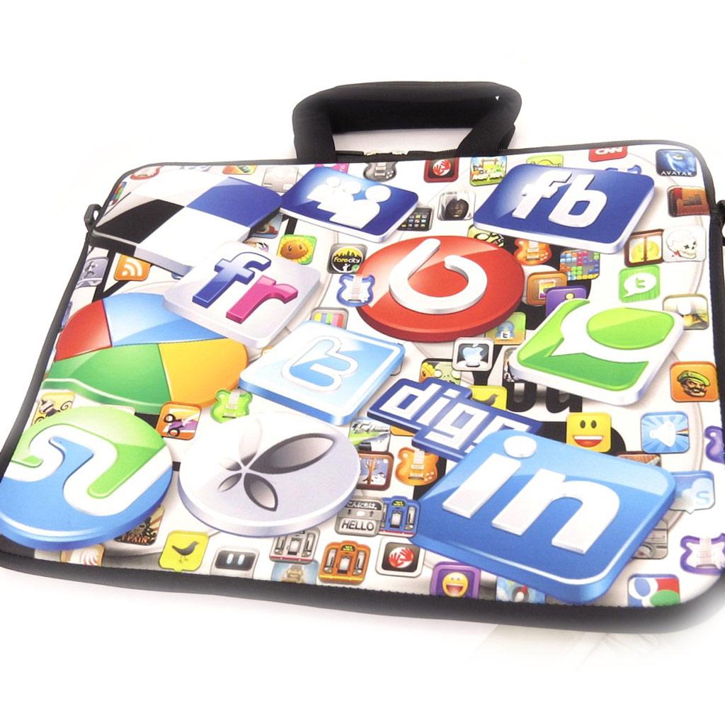 Sacoche ordinateur portable \'Génération Web\' néoprène (15\') - [K8195]