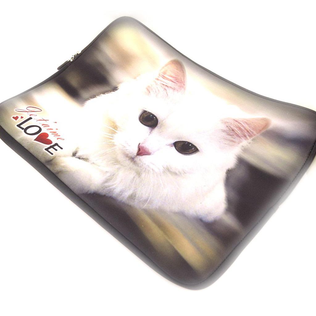 Housse ordinateur portable \'Un amour d\'Animaux\' néoprène (15\') - [K8199]