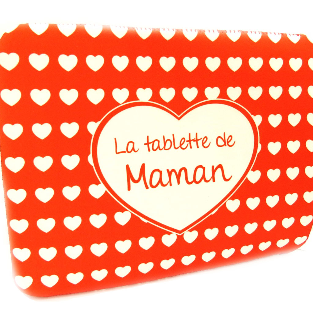 Etui tablette \'La Tablette de Maman\' néoprène (8, 9\') - 25x19 cm - [L4890]