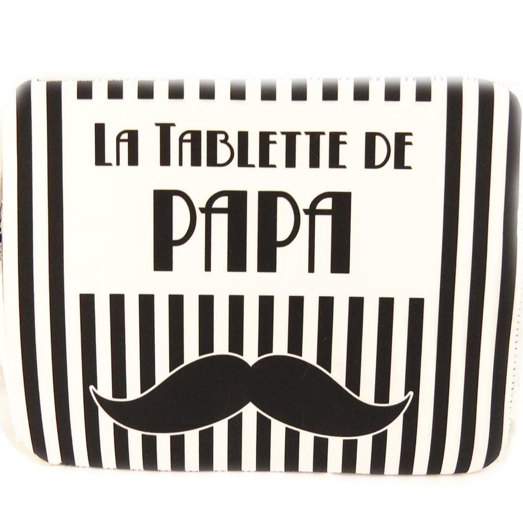 Etui tablette \'La Tablette de Papa\' néoprène (8, 9\') - 25x19 cm - [L4891]