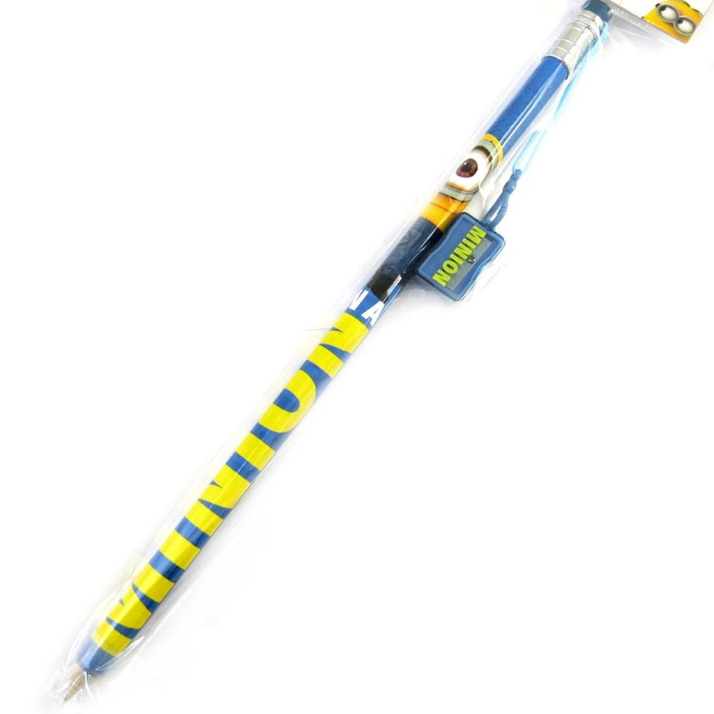 Crayon géant + taille-crayon \'Minions\' - 38 cm - [M6370]