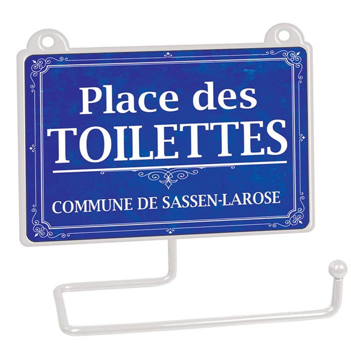 Dérouleur papier WC humoristique \'Messages\' (Place des toilettes - commune de Sassen-La-Rose) - 15x125 cm - [R2334]
