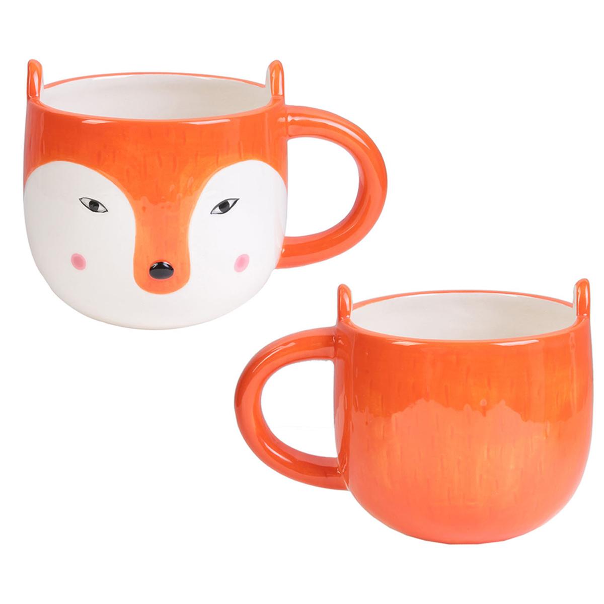 Mug céramique \'Renard\' orange - 10x10 cm (40 cl) - [A2272]