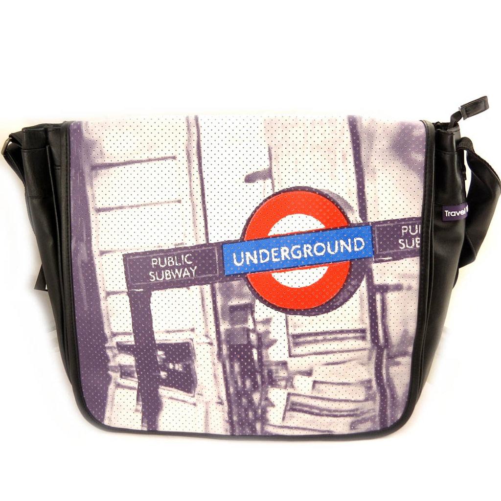 Besace bandoulière \'So British\' underground - 39x35x10 cm - [L4093]