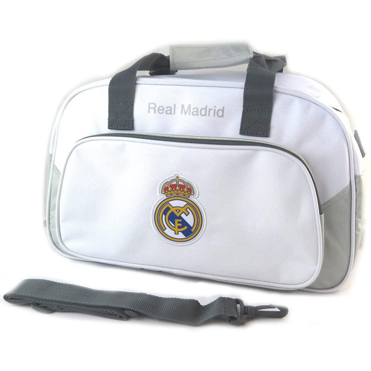 Sac de sport \'Real Madrid\' blanc gris - 40x24x20 cm - [N7468]