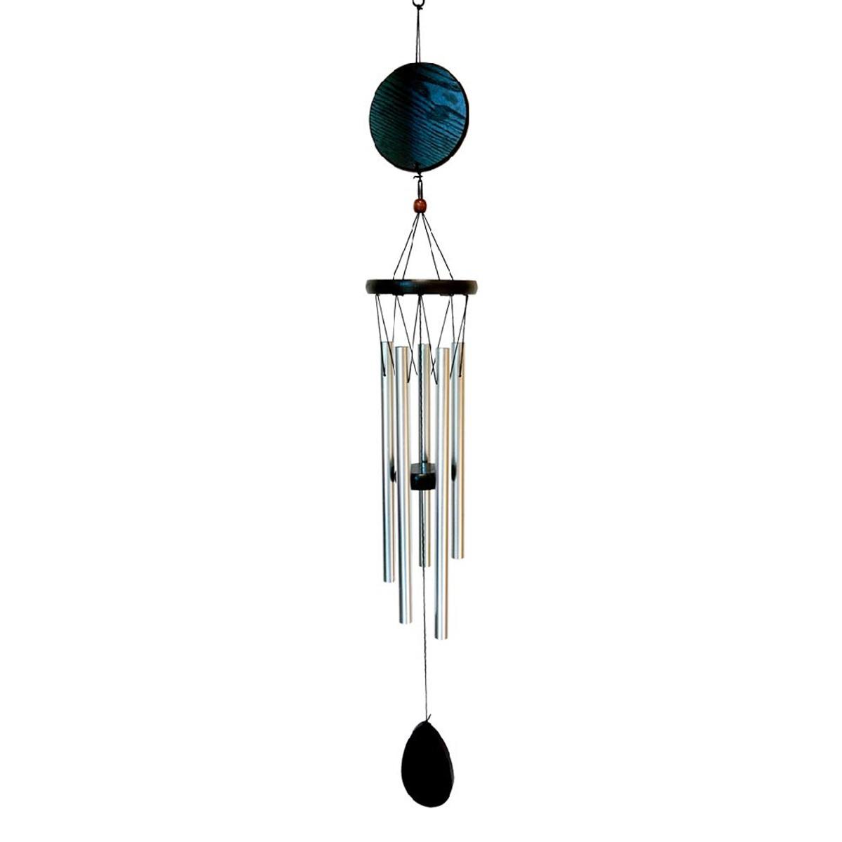 Carillon bois \'Zen attitude\' noir argenté  - 78x10 cm - [A2339]