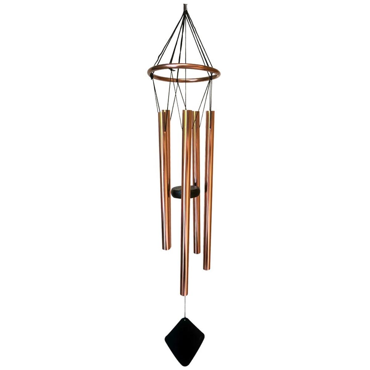 Carillon bois \'Zen attitude\' cuivré  - 78x12 cm - [A2340]