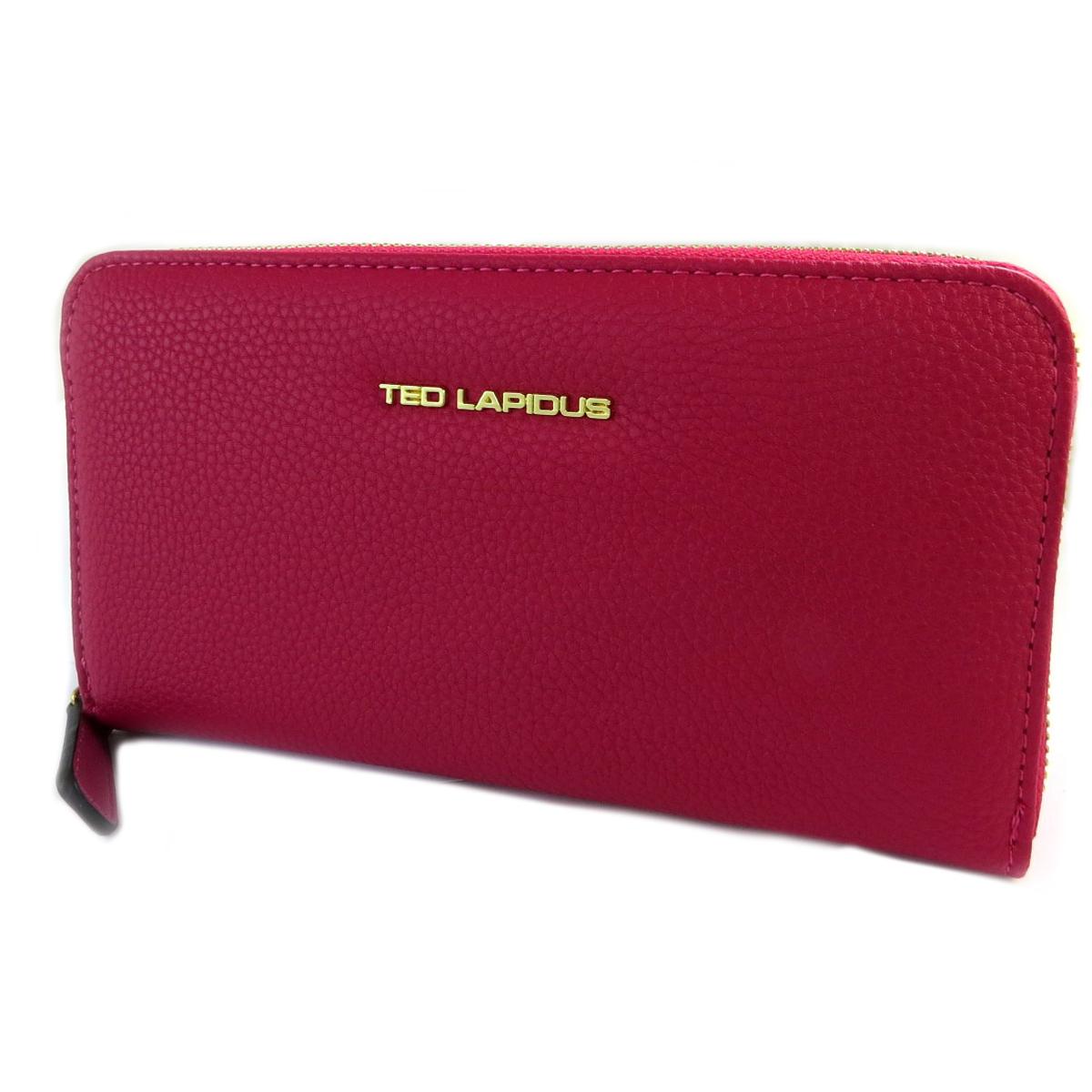 Compagnon zippé \'Ted Lapidus\' rose fuschia - 20x11x2 cm - [Q2243]