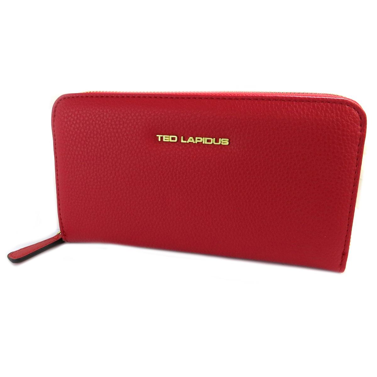 Compagnon zippé \'Ted Lapidus\' rouge - 20x11x2 cm - [Q2246]