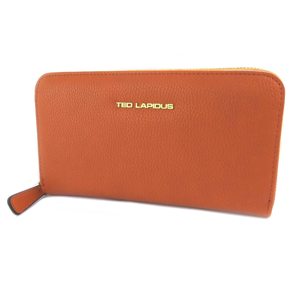 Compagnon zippé \'Ted Lapidus\' orange - 20x11x2 cm - [Q2247]