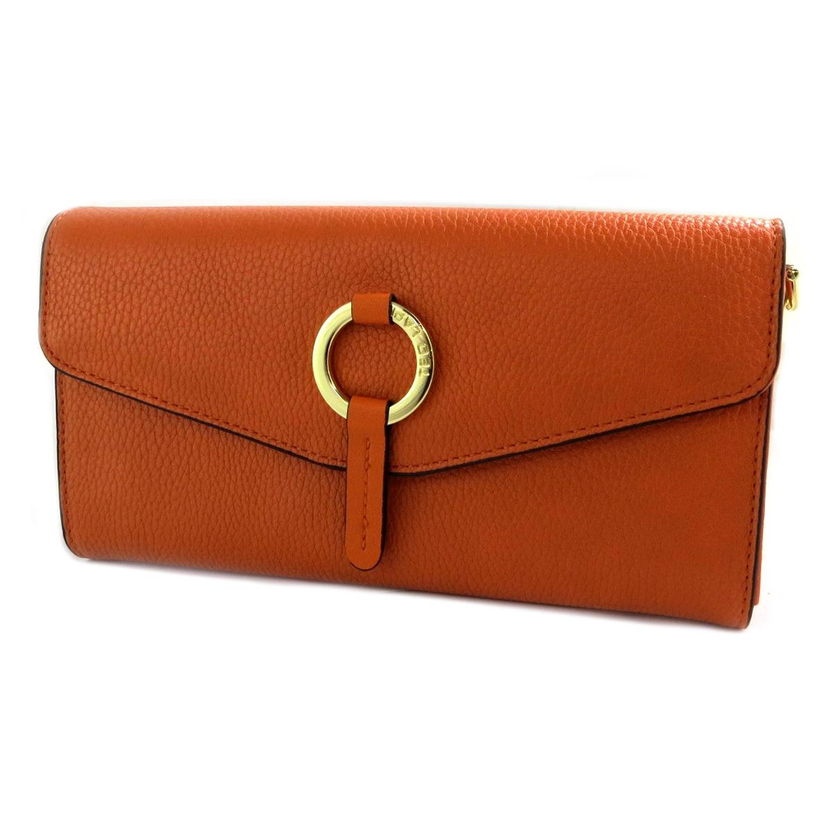 Compagnon Pochette \'Ted Lapidus\' orange (2 compartiments) - 21x12x25 cm - [Q3461]