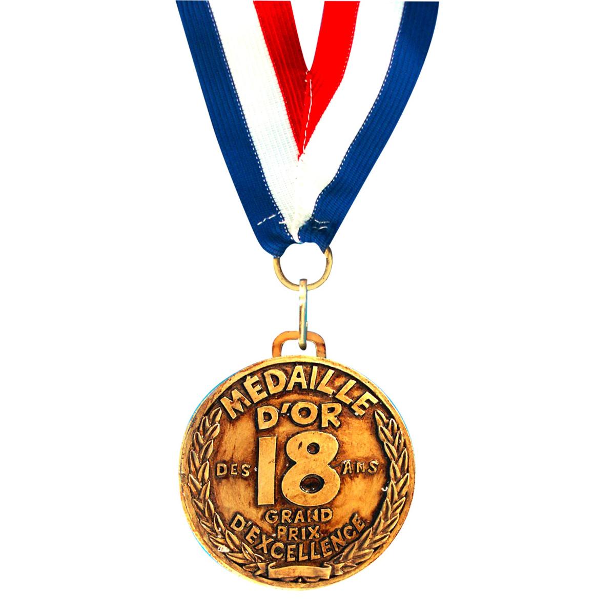 Médaille d\'or \'18 ans\' - 7 cm - [I8129]