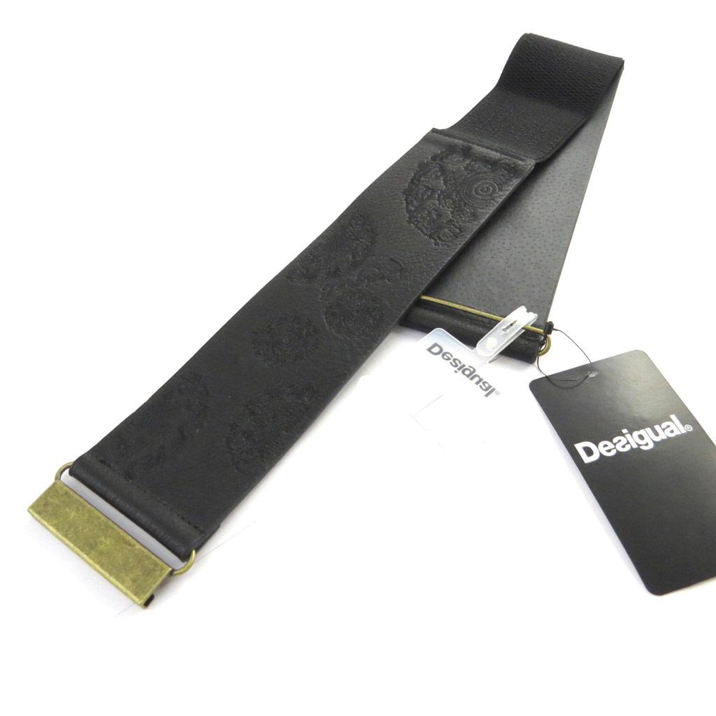 Ceinture créateur \'Desigual\' noir (élastique) - 60 mm - [M7498]