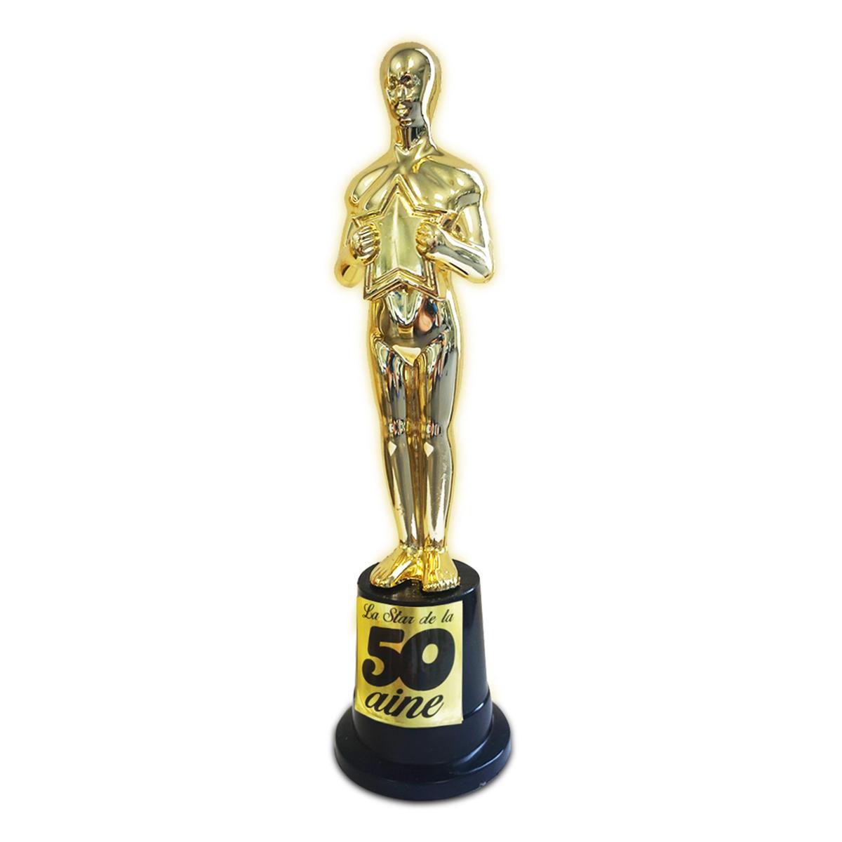 Trophée de star \'50 ans\' doré - 23x6 cm - [N4130]