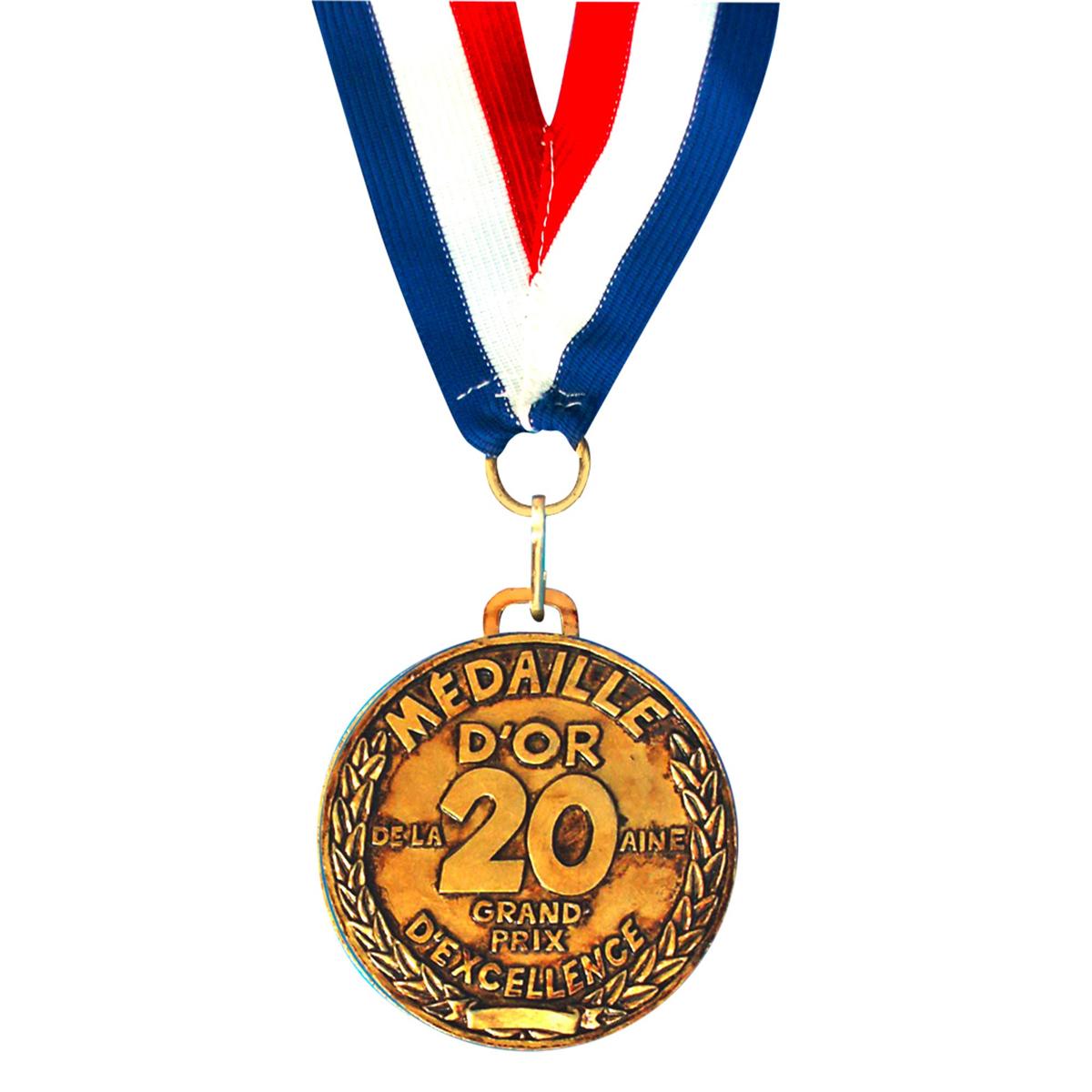 Médaille d\'or \'20 aine\' - 7 cm - [A2532]