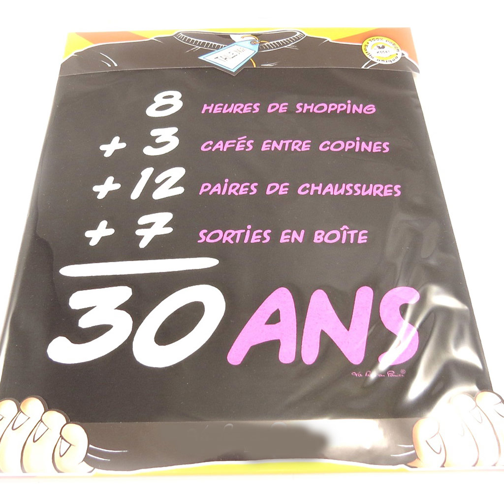 T-shirt \'30 ans\' femme (l\'addition) - [K5541]