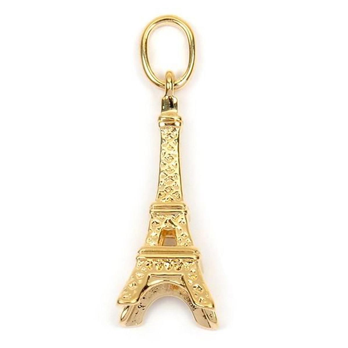 Pendentif Plaqué Or \'Tour Eiffel\' doré - 20x8 mm - [L4368]