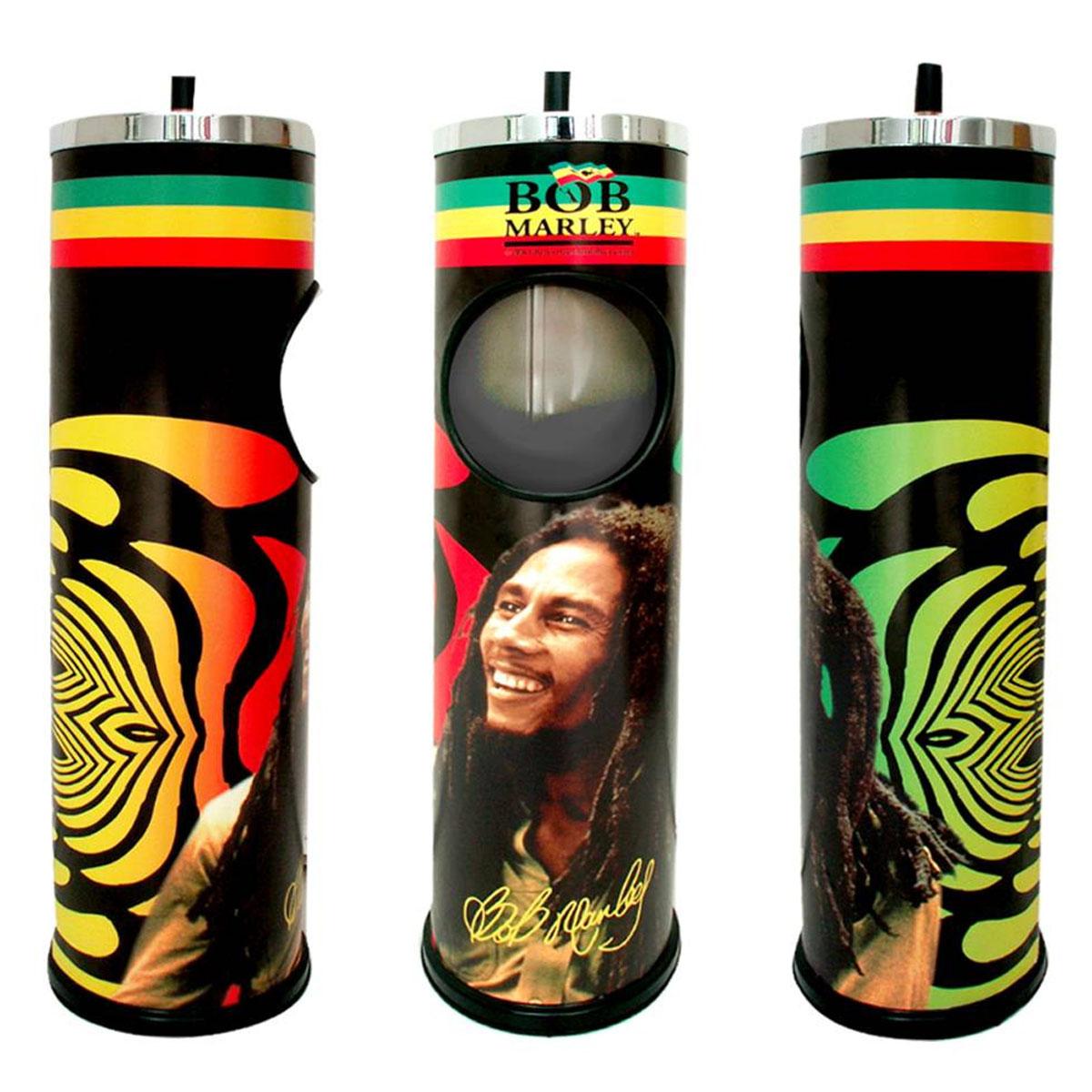 Cendrier géant \'Bob Marley\' noir multicolore - 64x14 cm - [A2626]