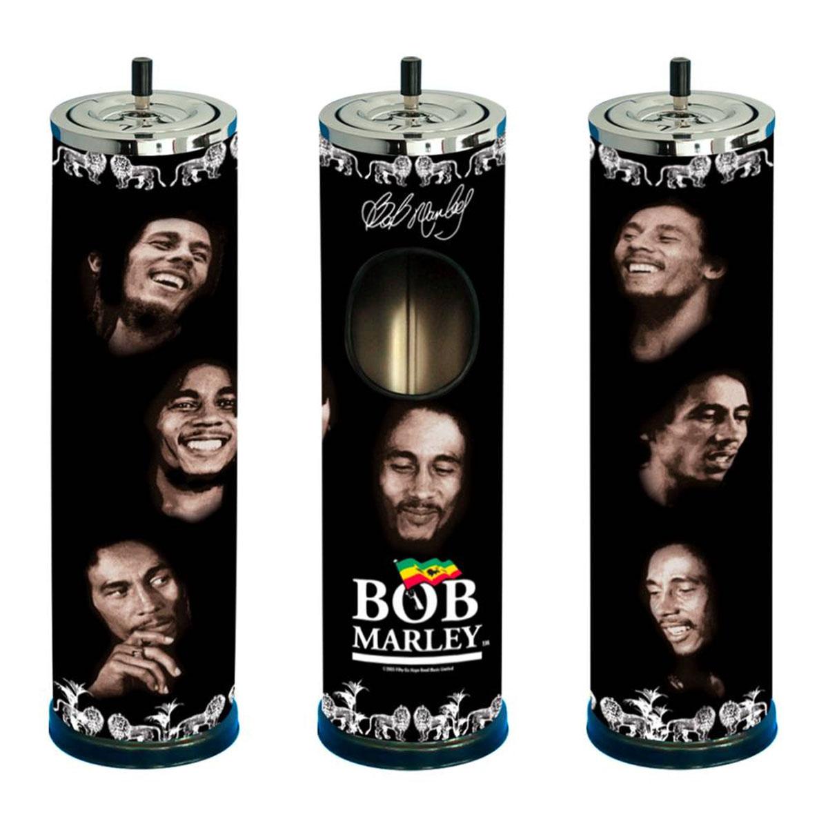 Cendrier géant \'Bob Marley\' noir - 64x14 cm - [A2628]