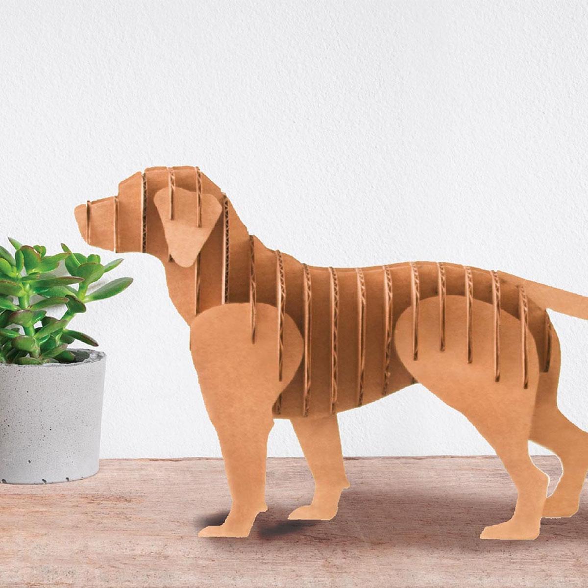 Figurine carton 3D \'Chien\' - planches 30x30 cm - [A2707]