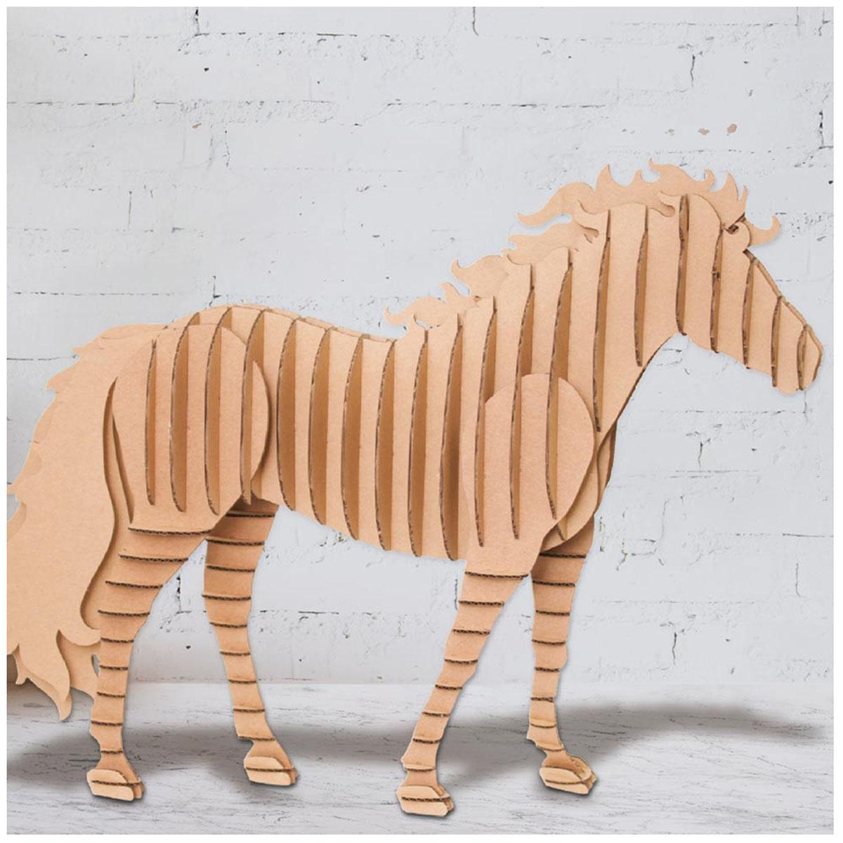Figurine carton 3D \'Cheval\' - planches 30x30 cm - [A2713]